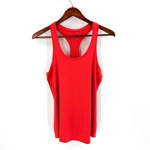 Fabletics Red Raceback Athletic Tank Top